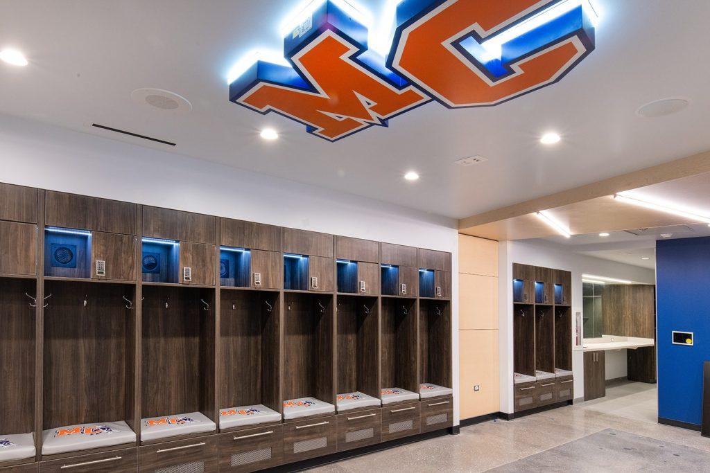 Athletic Team Locker Room