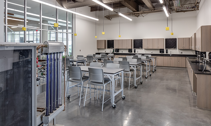 Image of an organized classroom with k-12 casework examples