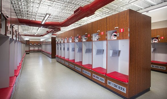 High School Football Locker Room, School Lockers