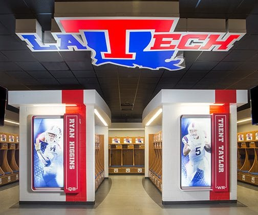 Athletic College Locker Room