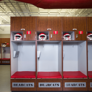Athletic Football lockers, lockerroom