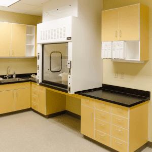 Laboratory laminate casework