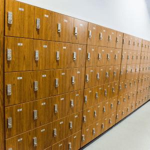 pass-through cubby athletic locker room
