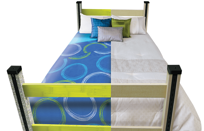 Image of Case Systems dorm room bed for residence life page