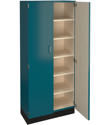 blue tall cabinet image