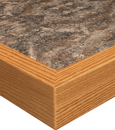 wood grain edge countertop image