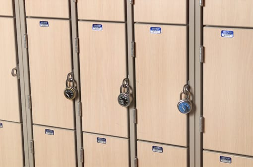 light wood grain lockers image for k-12 casework page