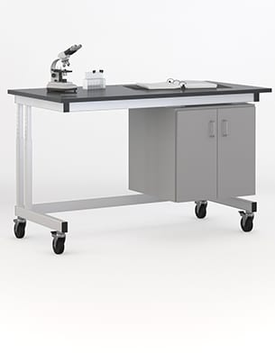 black top lab cart image for lab casework page