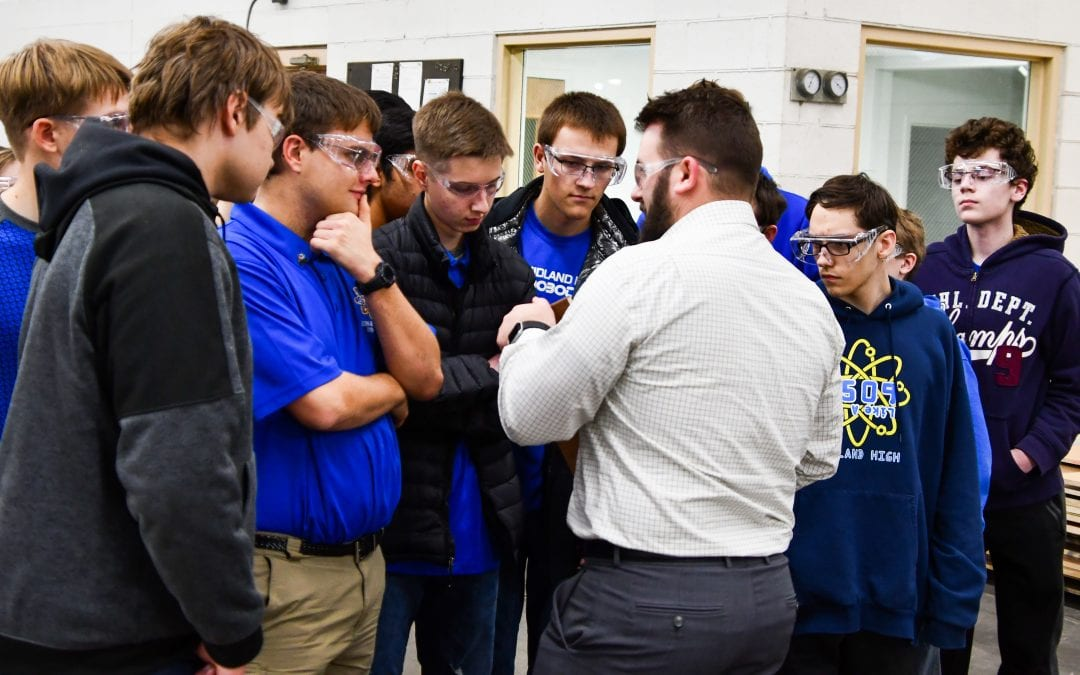 Case Systems hosts Midland High School Robotics Team