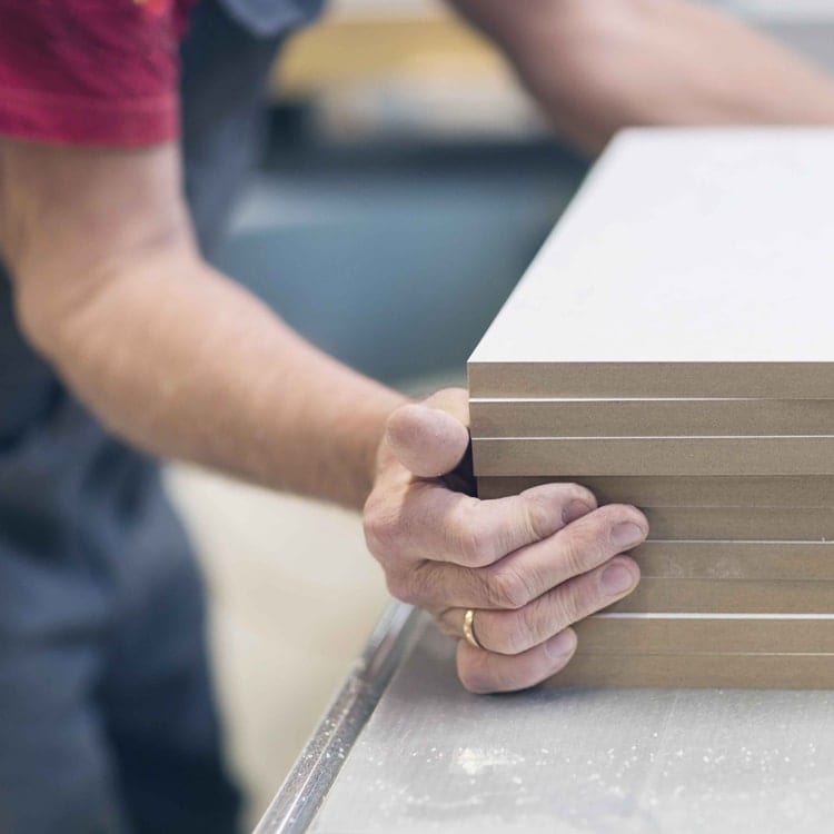 MDF board with hands