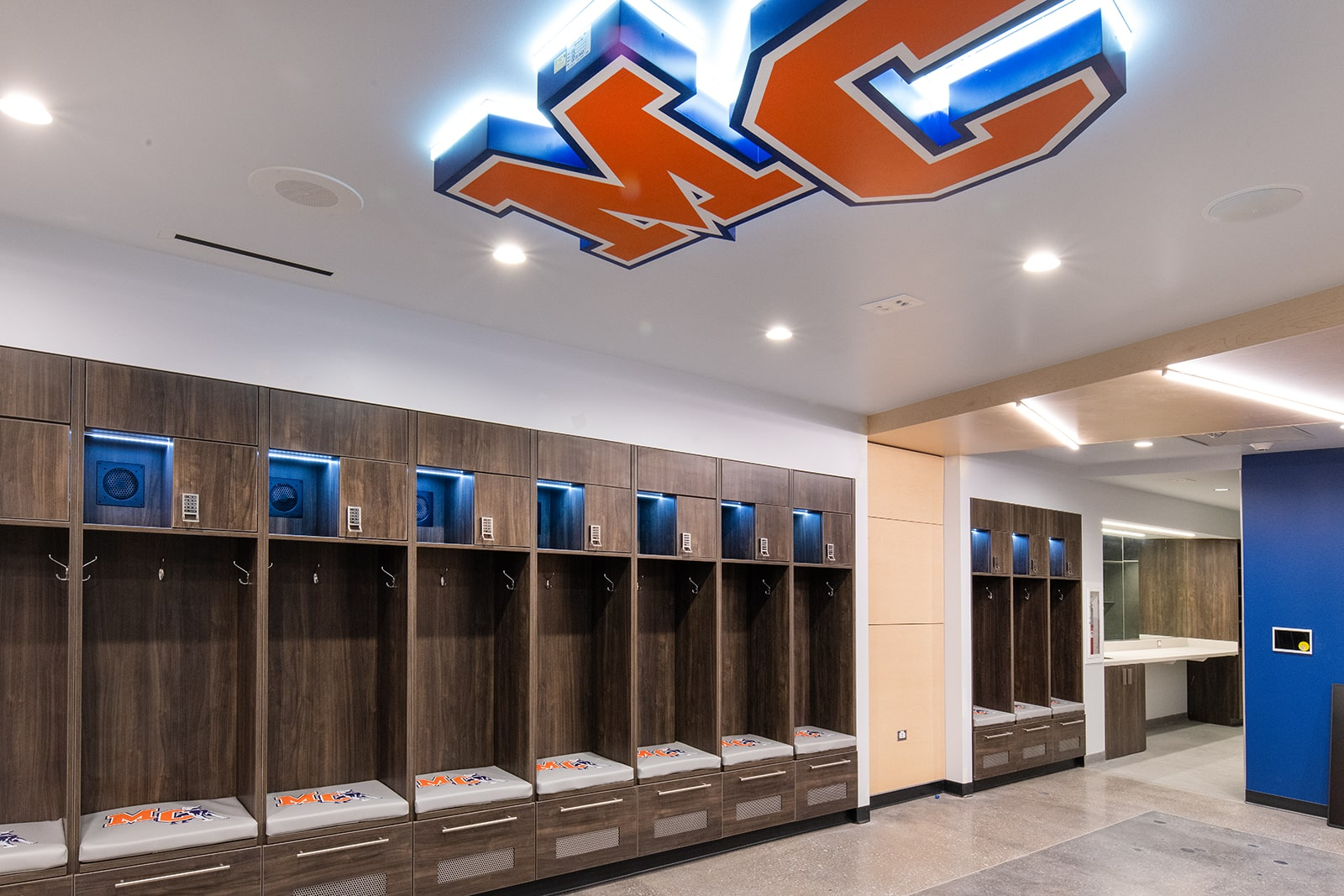 Athletic Team Locker Room