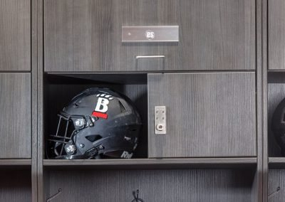 Athletic locker detail